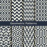 Vettore fissato con otto modelli geometrici senza cuciture progettazione per le coperture, avvolgersi, interno illustrazione di stock
