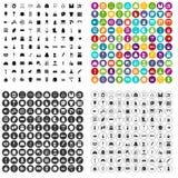 100 vettore fissato del cucito icone variabile Illustrazione Vettoriale