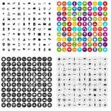 100 vettore fissato del sole icone variabile Immagini Stock Libere da Diritti