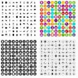 100 vettore fissato dell'alcool icone variabile illustrazione vettoriale
