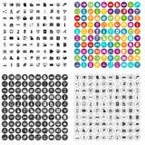 100 vettore fissato della base di dati icone variabile Immagini Stock