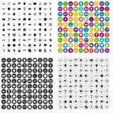 100 vettore fissato della concorrenza di sport icone variabile Fotografia Stock