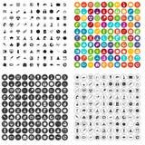 100 vettore fissato dello spazio icone variabile Fotografia Stock Libera da Diritti