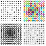 100 vettore fissato di economia icone variabile Immagini Stock Libere da Diritti