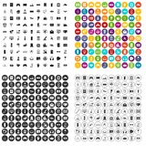 100 vettore fissato di ingegneria del software icone variabile Immagine Stock Libera da Diritti