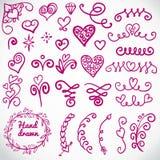 Vettore fissato: elementi calligrafici di progettazione Illustrazione di Stock