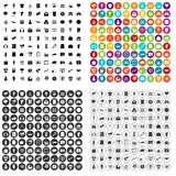 vettore fissato 100 icone commercializzante variabile royalty illustrazione gratis