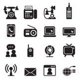 Vettore fissato icone di tecnologia della comunicazione royalty illustrazione gratis