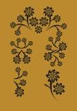 Vettore fissato: ornamento del fiore illustrazione di stock