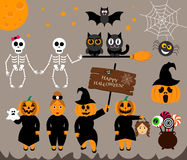 Vettore fissato per Halloween nella progettazione moderna Immagine Stock Libera da Diritti