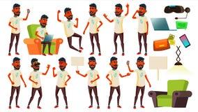 Vettore fissato pose teenager del ragazzo Indiano, indù Asiatico Amichevole, acclamazione Per l'insegna, aletta di filatoio, prog illustrazione di stock