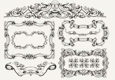 Vettore fissato: strutture d'annata decorate Immagini Stock
