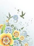 Vettore floreale del fondo Fotografia Stock