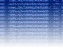 Vettore: Fondo astratto di tecnologia, contesto blu di Digital di codice binario illustrazione di stock