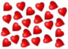 Vettore - forme di amore Fotografie Stock