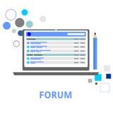 Vettore - forum di Internet Fotografia Stock Libera da Diritti