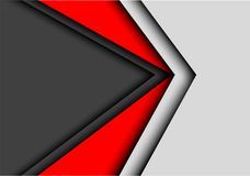 Vettore futuristico moderno del fondo di progettazione grigio scuro rossa astratta della freccia Immagini Stock Libere da Diritti
