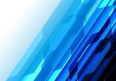 Vettore futuristico moderno del fondo di tecnologia di progettazione blu astratta della luce bianca Immagini Stock Libere da Diritti