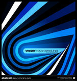 Vettore geometrico blu astratto del fondo Immagini Stock