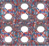 Vettore geometrico del fondo del modello del mosaico d'annata dei pantaloni a vita bassa Immagine Stock