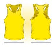 Vettore giallo della canottiera sportiva per il modello illustrazione vettoriale