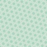 Vettore giapponese diagonale del modello di asanoha del turchese senza cuciture royalty illustrazione gratis
