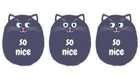 Vettore Gray Cat nello stile del fumetto 1 illustrazione vettoriale