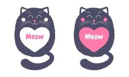 Vettore Gray Cat nello stile del fumetto 4 illustrazione vettoriale