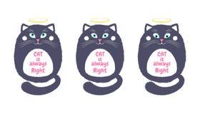 Vettore Gray Cat nello stile del fumetto 5 royalty illustrazione gratis