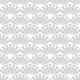 Vettore Gray Fans Texture Seamless Pattern Immagini Stock