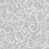 Vettore Gray Swirly Texture Seamless Pattern Immagine Stock
