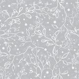 Vettore Grey Tree Braches Texture Seamless d'argento Fotografie Stock Libere da Diritti
