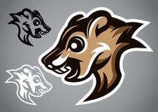 Vettore grigio 2901 di logo della testa selvaggia dello scoiattolo Immagini Stock