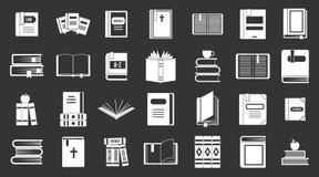 Vettore grigio stabilito dell'icona dei libri illustrazione vettoriale