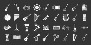 Vettore grigio stabilito dell'icona dello strumento musicale royalty illustrazione gratis