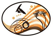 Vettore Groovy del grunge tropicale illustrazione vettoriale