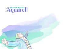 Vettore Happyness del fondo di Aquarell Fotografia Stock