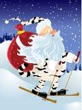 Vettore il Babbo Natale in un vestito della tigre Illustrazione Vettoriale