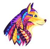 Vettore Illustrattion di Dog With Ornament del progettista illustrazione vettoriale