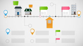 Vettore infographic del modello di affari di cronologia Immagini Stock