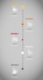 Vettore infographic del modello di affari di cronologia Immagine Stock