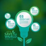 Vettore infographic di progettazione di massima dell'ambiente Immagini Stock Libere da Diritti