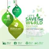 Vettore infographic di progettazione di massima dell'ambiente Immagine Stock Libera da Diritti