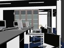 Vettore interno 09 delle stanze dell'ufficio Fotografia Stock Libera da Diritti