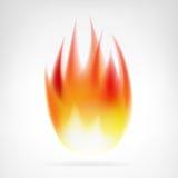 Vettore isolato fiamma realistica del fuoco Fotografie Stock
