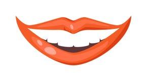 Vettore isolato labbra della donna royalty illustrazione gratis