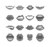 Vettore isolato labbra della donna Immagini Stock