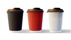 Vettore isolato tazze EPS10 dell'ondulazione del caffè Fotografia Stock