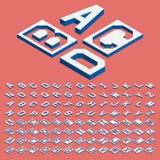 Vettore isometrico delle lettere Immagini Stock