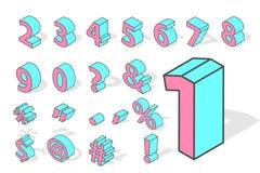 Vettore isometrico di numeri isolato Immagini Stock